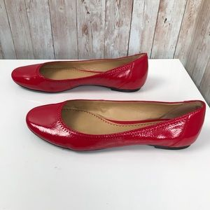 Bp size 9 red patent leather ballet flats